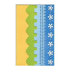 Sizzix.co.uk - Sizzix Thinlits Die Set 4PK - Dotty & Flowers Edges