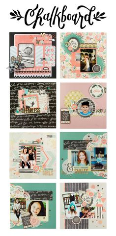 Scrapbook inspiration with the Chalkboard collection. #wermemorykeepers #chalkboard #scrapbooking