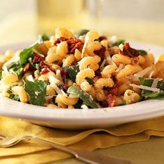 Pasta with Asiago Cheese and Spinach | MyRecipes.com