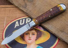 Great Eastern Cutlery: Tidioute - #15 Huckleberry Boy's Knife - Antique Yellow Jig Bone $71.89