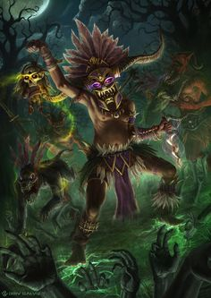 Diablo 3 - Witch Doctor by DeivCalviz on DeviantArt Character Concept, Character Art, Concept Art, Character Design, Character Creator, Arte Tribal, Religion, Witch Doctor, Creepy Art