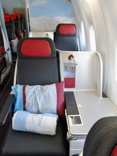 My First Flight in Austrian Airlines Business Class Business Class, Business Travel, Austrian Airlines, Helicopter Charter, Plane Seats, Airplane Interior, Private Jet Interior, Flying First Class, First Class Flights