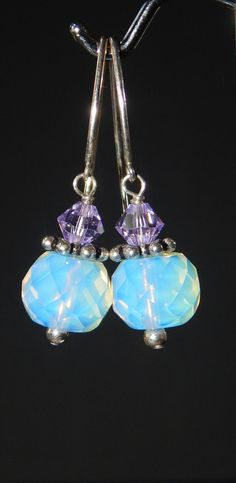 Moonstone Faceted Earrings by LisasOriginals on Etsy