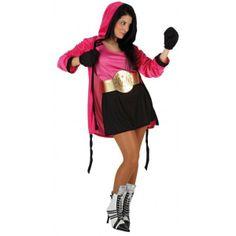 Disfraz de Boxeadora. Preparate a ganar el combate, no tendras rival en tu fiesta de carnaval, grupos o despedidas. Combinalo con el disfraz...