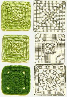 Transcendent Crochet a Solid Granny Square Ideas. Inconceivable Crochet a Solid Granny Square Ideas. Crochet Blocks, Granny Square Crochet Pattern, Crochet Diagram, Crochet Chart, Crochet Squares, Crochet Motif, Crochet Patterns, Granny Squares, Knitting Patterns