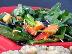 Becoming Betty: Peach Spinach Salad