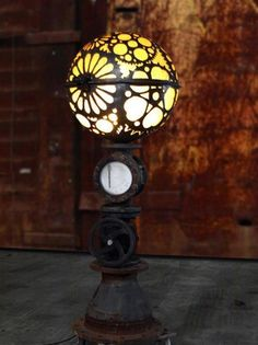 Globe Steampunk Lamp #RecycledLamp #FloorLamp @idlights