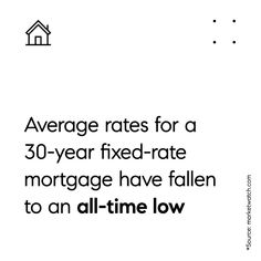 All Time Low, All About Time, Fixed Rate Mortgage, Home Trends, 30 Years, Math, Mathematics, Math Resources, Early Math