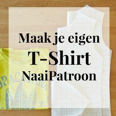Teken zelf een T-Shirt NaaiPatroon – SewNatural Diy Clothing, Sewing Clothes, Clothing Patterns, Sewing Patterns, T Shirt Sewing Pattern, Sewing Hacks, Sewing Tutorials, Sewing Projects, Sewing Tips