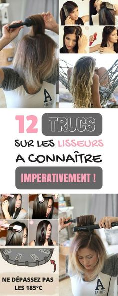 12 Tips of straighteners to know imperatively! - Hair Dress - Models - New Hair Dress Season Mens Hair Colour, Human Hair Color, Color Your Hair, Afro Hair Routine, How To Curl Your Hair, Hair Images, Bad Hair, Diy Hairstyles, Poses
