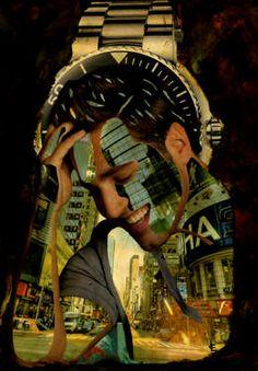 """Saatchi Art Artist CARMEN LUNA; Collage, """"52-Collagemania David Bustamante."""" #art http://www.saatchiart.com/art-collection/Assemblage-Collage/Collagemania-CARMEN-LUNA/71968/46137/view"""
