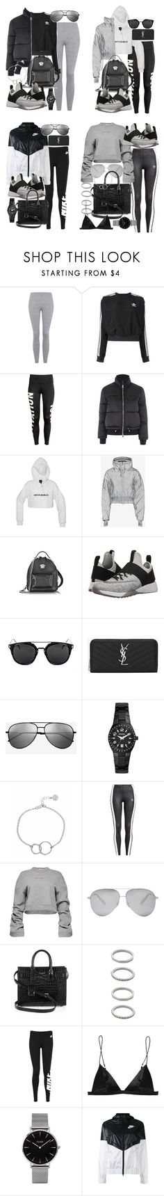 """""""Nike Air Zoom Strong"""" by florencia95 ❤ liked on Polyvore featuring Topshop, adidas, Versace, NIKE, Yves Saint Laurent, FOSSIL, Chupi, adidas Originals, Magda Butrym and Victoria Beckham"""