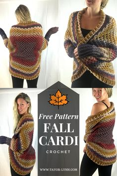 Free Essentially Fall Cardigan crochet Pattern from www.taylor-lynn.com