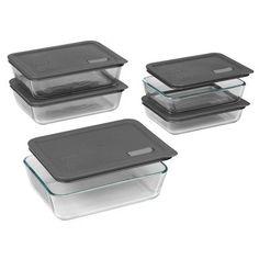 No Leak Lids Ten Piece Storage Dish Set with Cover