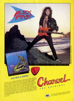 Alex Masi & Charvel Guitar Promo Ad - Music Gift - Paper Ephemera - Classic Rock Print Ad - Print Advertisement - Music Memorabilia by MusicSellerz on Etsy