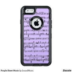 Purple Sheet Music O