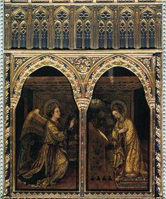 Jacopo Bellini (v. 1400-1470) : l'Annonciation. 1444. Panneau de bois. Brescia, église Sant'Alessandro.