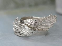WINGED sterling silver ring set for you and the by plasticouture, $89.50