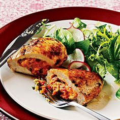Easy, delicious and healthy Pimiento Cheese Stuffed Chicken **Low Carb/High Protein recipe from SparkRecipes. See our top-rated recipes for Pimiento Cheese Stuffed Chicken **Low Carb/High Protein. Chicken And Cheese Recipes, Cheese Stuffed Chicken, Chicken Breast Recipes Healthy, Healthy Chicken, Healthy Recipes, Cooked Chicken, Chicken Bacon, Turkey Chicken, Keto Chicken