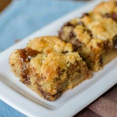 Salted Caramel Chocolate Chip Cookie Bars.  Sweet and salty perfection
