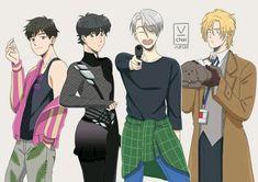 This messes with my brain I Love Anime, Anime Guys, Yuri Katsuki, Anime Lindo, ユーリ!!! On Ice, Fanarts Anime, Anime Crossover, Bishounen, Shounen Ai