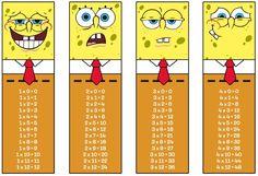 School Worksheets, Worksheets For Kids, Multiplication And Division, Math For Kids, Math Activities, Spongebob, Bookmarks, Fun, Blog
