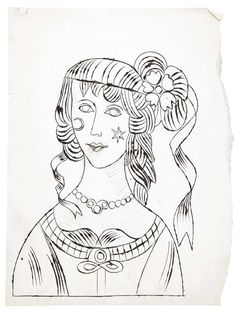 61 best portraits images contemporary art drawings paintings Ford Crown Victoria Sport andy warhol 1928 1987 american portrait of woman c 1956 ink and graphite on paper