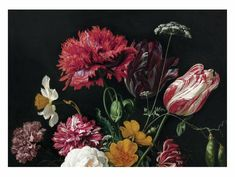 Fototapete Golden Age Flowers 2, 389.6 x 280 cm - KEK Amsterdam