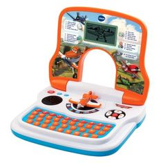 Disney Planes - Learning Laptop Your child will take flight with VTech®'s Learning Laptop™ featuring the voice of Dusty! Join all the characters from Disney Planes in fun and interactive playtime adventures. This fun learning toy teaches words, spelling, math, logic and more with twenty fun activities and five modes of play. The easy-to-use controls including arrow buttons help improve hand/eye coordination, and the interactive games develop logical thinking.