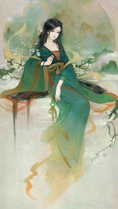 Chinese Artwork, Chinese Drawings, Japanese Artwork, Chinese Cartoon, China Art, Human Art, Ancient China, Anime Art Girl, Traditional Art