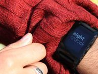 Rock on: Pebble watch gets catapulted to early backers The watch works with iOS and Android and can push all kinds of information to the wrist, including social-networking updates, e-mails, and call information.