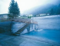 my favorite architect peter zumpthor and his thermal baths in graubünden  switzerland.  i mhttp://pinterest.com/thelakehouse/#ust go here one day.