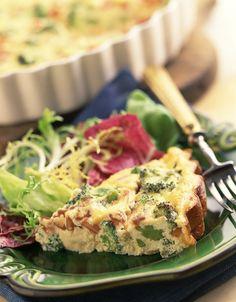 Broccoli, Potato & Bacon Egg Pie with Cabot Cheddar Cheese
