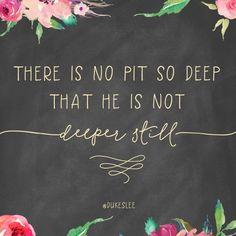 no matter what you're going through, God's love is deeper still   Jennifer Dukes Lee