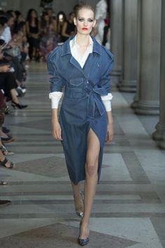 Carolina Herrera denim look Spring 2017 Ready-to-Wear Fashion Show - Sunniva Vaatevik