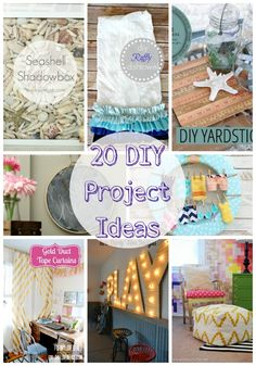 20 DIY project ideas featured on iheartnaptime.com