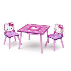 hello kitty kids furniture. kids table and chairs set hello kitty pink wooden 2 childrens furniture