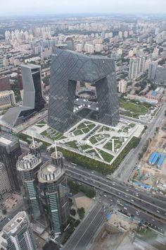 Peking ist die Hauptstadt des Milliarden-Reiches Volksrepublik China. Sie lebt nicht nur von einer glorreichen Vergangenheit, sondern pulsiert in der Gegenwart und blickt in eine atemberaubende Zukunft. Hier sehen Sie den Blick vom Guomao-Tower auf den futuristisch anmutenden CCTV-Tower, dem staatlichen Fernsehen. Hier geht's zum Reisebericht: http://www.nachrichten.at/reisen/Peking-Reise-in-die-chinesische-Zukunft;art119,1234458 (Bild: eku)