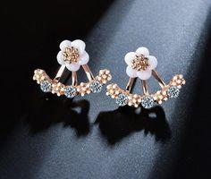 CNCbetter Womens Fashion Jewelry Rhinestone Owl Stud Earrings Gold Plated