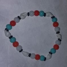 Beach bead bracelet - stretchy by BritkneesBootique on Etsy
