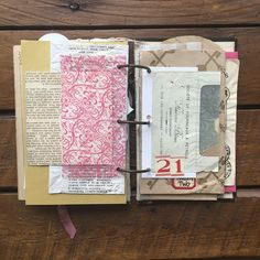 Well, to say I have been on the biggest rollercoaster of my life this past year is an understatement, so I am excited to create my annual December journal (learn more about it by looking at… Journal Paper, Scrapbook Journal, Art Journal Pages, Junk Journal, Journal Cards, Art Journaling, Handmade Journals, Handmade Books, Doodle Art Journals