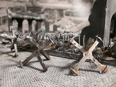 28mm Scale Tank Traps for Warhammer 40k, Warmachine or Infinity - tutorial