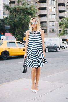 Stripe Dress in NYC