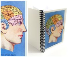 Phrenology  Spiral Notebook 4 x 6 by Ciaffi on Etsy, $11.50