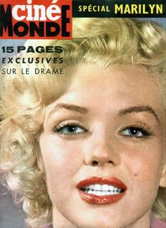 Marilyn on the cover of a magazine