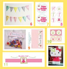 FREE birthday printables for child's birthday parties ☺☺☺MeinLilaPark