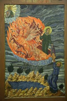 Exhibition of Folk Icons (Photo Report) : A Russian Orthodox Church Website Elijah being carried up to heaven Russian Icons, Russian Art, Religious Icons, Religious Art, Monastery Icons, Religious Paintings, Byzantine Art, European Paintings, Orthodox Icons