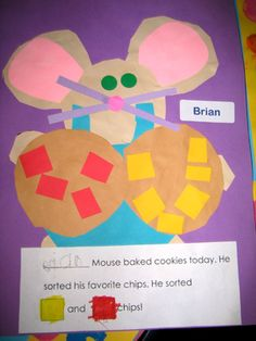 If You Give a Mouse a Cookie Math Craftivity Preschool Literacy, Preschool Books, Kindergarten Classroom, Literacy Activities, Teaching Math, Preschool Activities, Addition Activities, Math Addition, Preschool Education