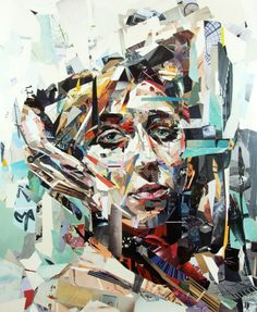 Awesome illustration portraits from the collage artist Patrick Bremer, he creates creative collage art of beautiful, awesome, colorful and illustrated portraits Collage Portrait, Collage Artists, Portraits, U Bahn, Art Of Living, Magazine Art, Les Oeuvres, Paper Art, Paper Collages