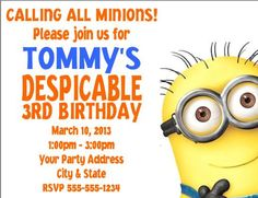 Despicable Me Minions Birthday Party by CustomWrappers4U on Etsy, $0.85